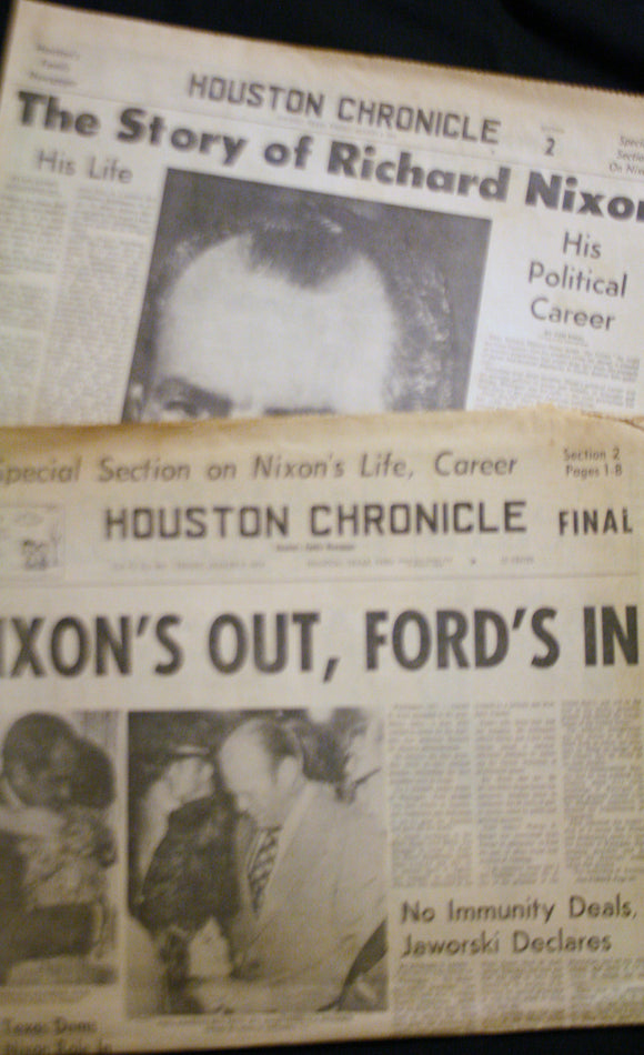 08 09 1974 NEWS Richard Nixon  Gerald Ford