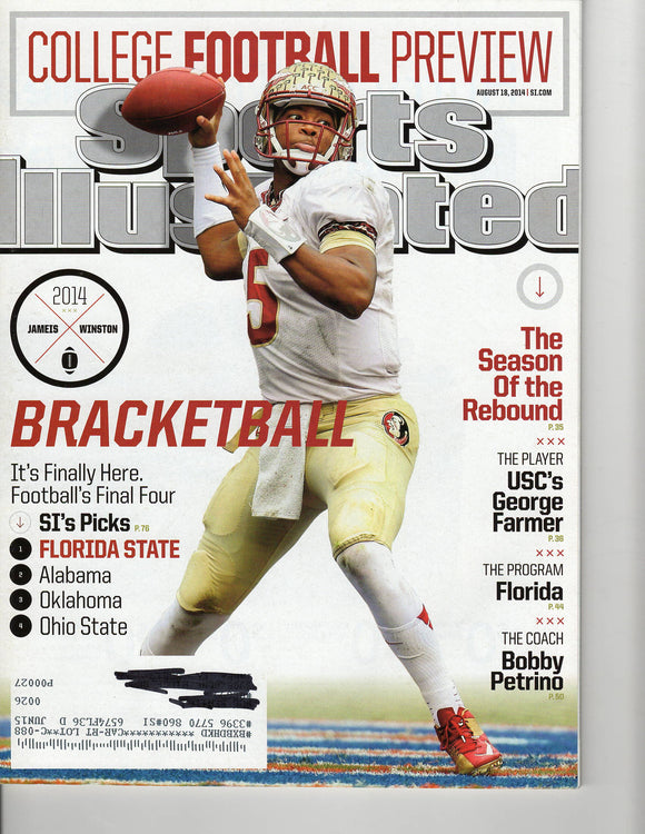 08 18 2014 Sports Illustrated Jameis Winston
