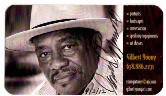 09 03 2012 Gilbert Young - Artist - autographed card