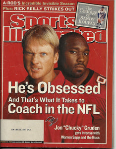 "09 09 2002 Sports Illustrated Jon ""Chucky"" Gruden"