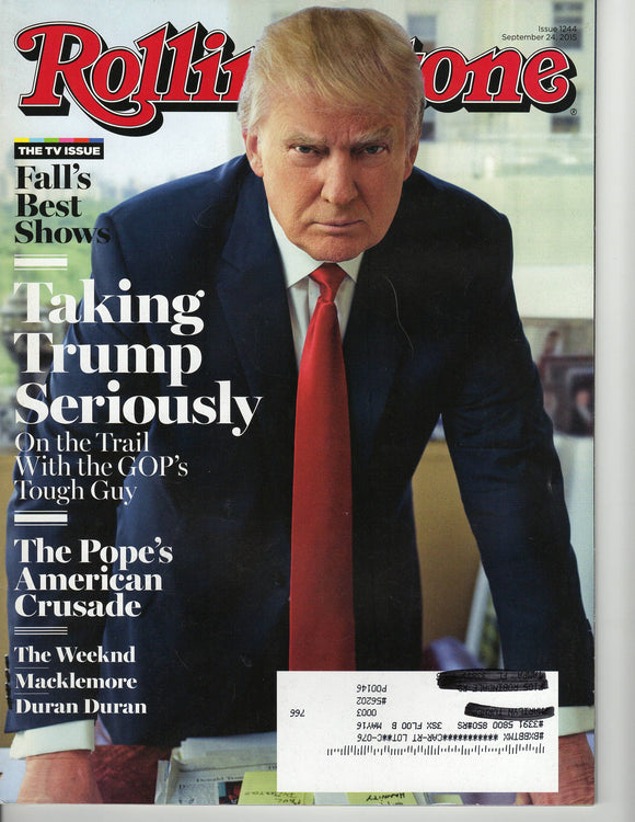 09 24 2015 Donald Trump - Rolling Stone