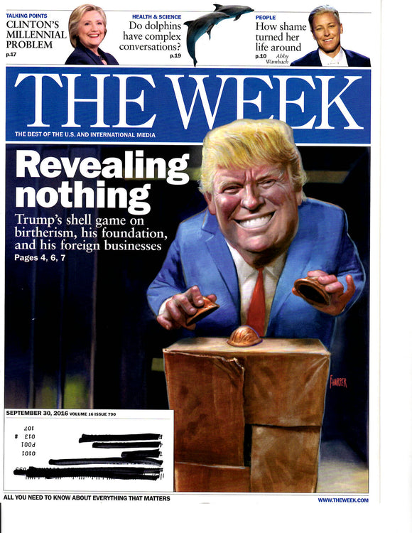 09 30 2016 The Week Donald Trump