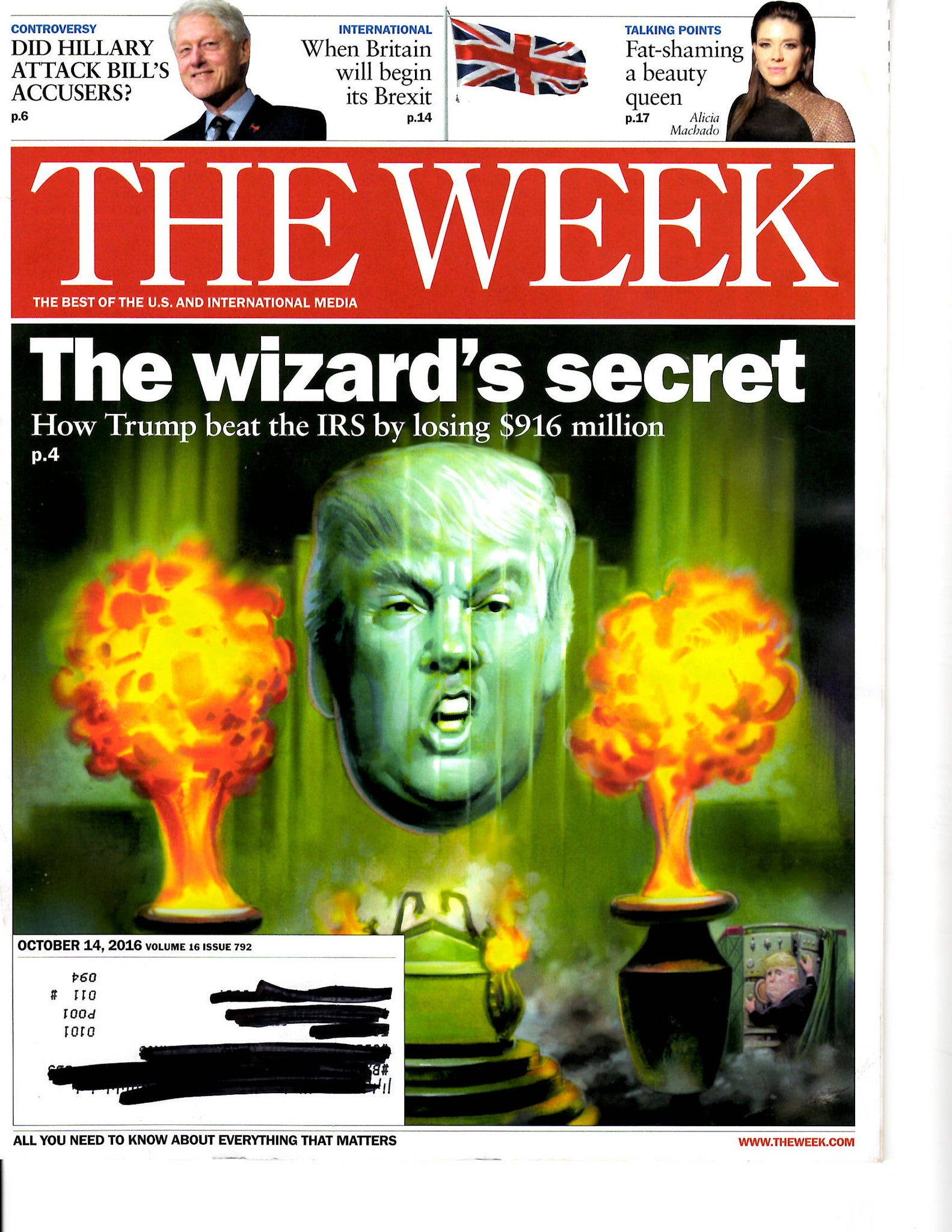 10 14 2016 The Week Donald Trump