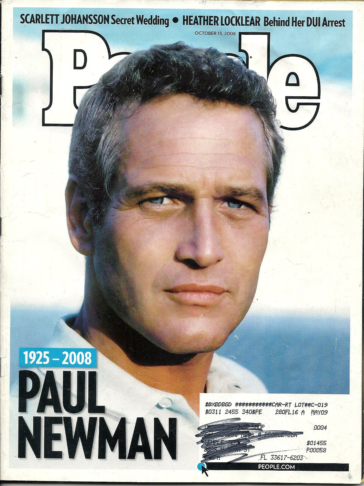 10 13 2008 People Paul Newman
