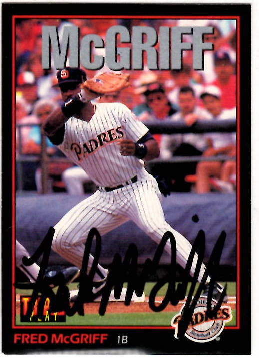 10 31 1963 Fred McGriff Autographed Card