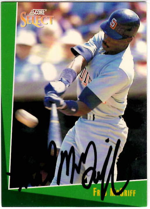 10 31 1963 Fred McGriff Autographed Card Score
