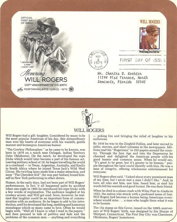 11 04 1979 FDW WH Will Rogers