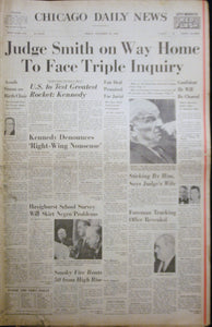 11 22 1963 NEWS John F Kennedy - Judge Smith Impeachment