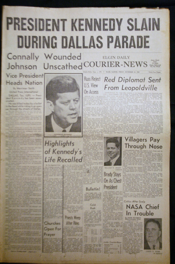 11 23 1963 NEWS John F Kennedy Slain