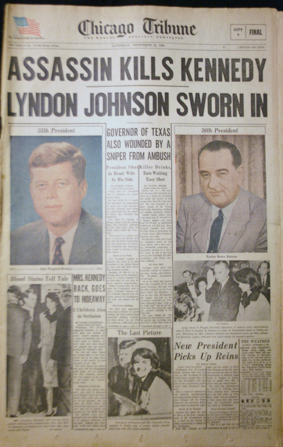 11 23 1963 NEWS John F Kennedy  Lyndon Johnson