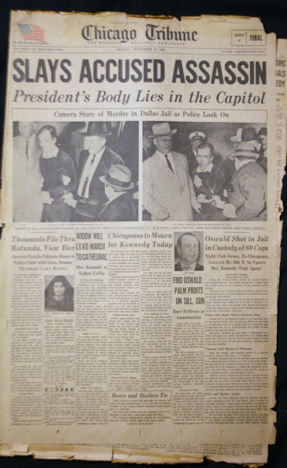 11 25 1963 NEWS John F Kennedy- Lee Harvey Oswald - Jack Ruby