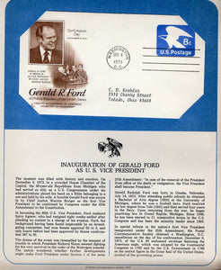 12 06 1973 FDC WH Gerald Ford Inauguration