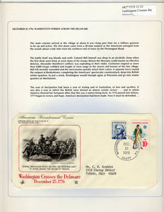 12 25 1976 FDC WH Washington Crosses the Delaware 1776