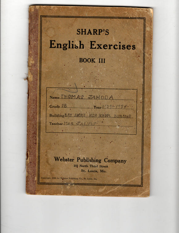 1929 Sharp's English Exercises book III