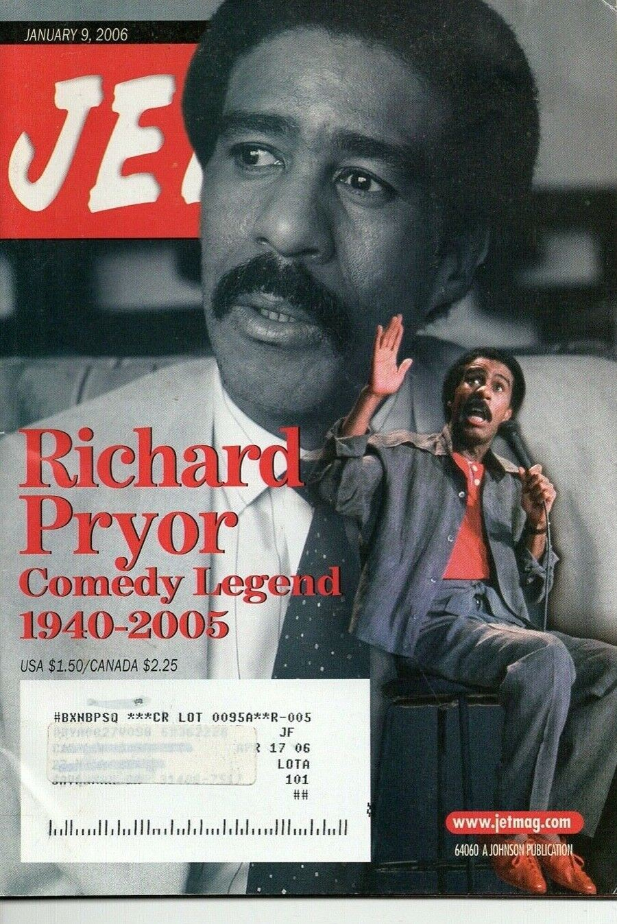 01 09 2006 JET MAGAZINE Richard Pryor