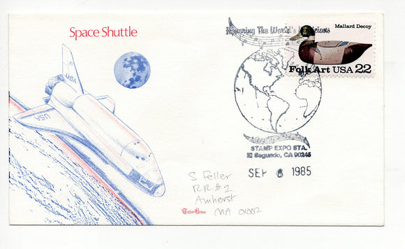 09 06 1985 FDC Space Shuttle