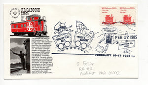 02 17 1986 FDC RR Caboose 1890's