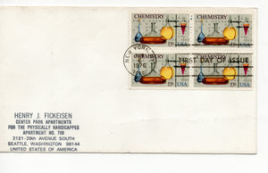 04 06 1976 FDC Chemistry Postmarked New York