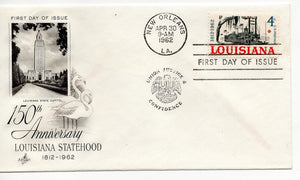 04 30 1962 FDC Louisiana Statehood Postmark New Orleans