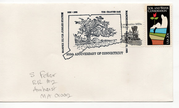 FDC 04 28 1985 Locomotive 1870s  Train &  Soil and Water Conservation
