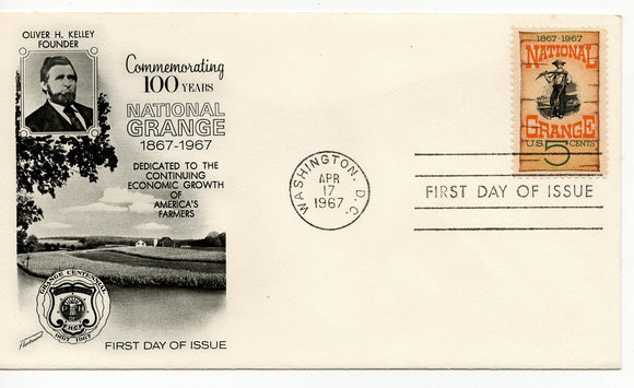 FDC 04 17 1967 100 Years National Grange