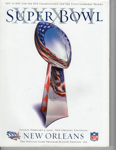 02 03 2002 Super Bowl Game Day Program