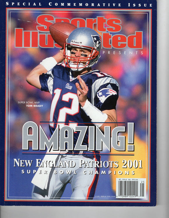 02 13 2002 Sports Illustrated Super Bowl - Tom Brady