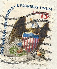 04 03 1977 GCI 3 Gift Card Insert - Post Marked Eagle - One Nation
