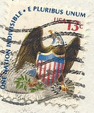 03 07 1976 GCI 3 Gift Card Insert - Post Marked Eagle - One Nation