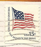 04 22 1979 GCI 3 Gift Card Insert -  Post Marked American Flag Home of the Brave