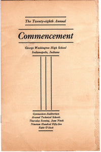 19 Pieces of Graduation 1955 Marion County Indiana Memories OG47