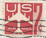 04 10 1962 GCI 2 Gift Card Insert -  Post Marked 7c Air Mail