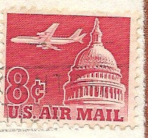 04 22 1963 GCI 3 Gift Card Insert -  Post Marked U.S. Airmail
