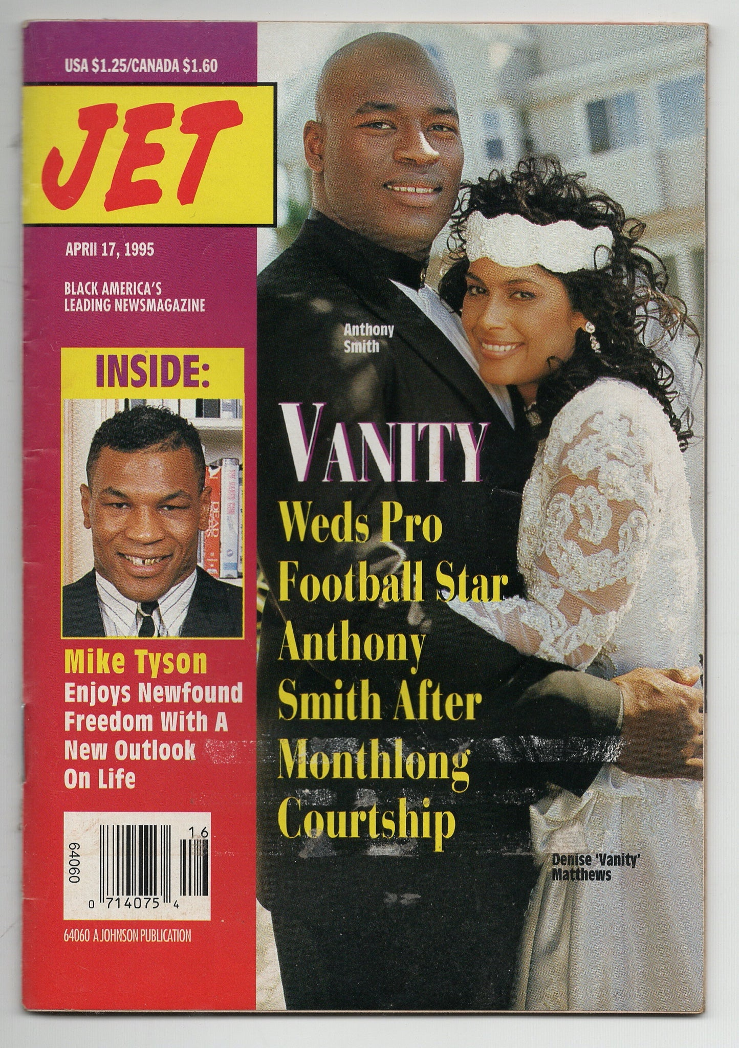 04 17 1995 Jet Magazine Mike Tyson Anthony Smith Denise Vanity Matthews