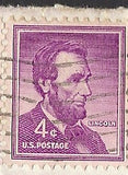 04 10 1963 GCI 2 Gift Card Insert -  Post Marked Abraham Lincoln