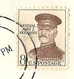 04 07 1966 GCI 2 Gift Card Insert -  Post Marked 8c General John Pershing