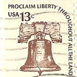 04 07 1977 GCI 3 Gift Card Insert -  Post Marked Liberty Bell