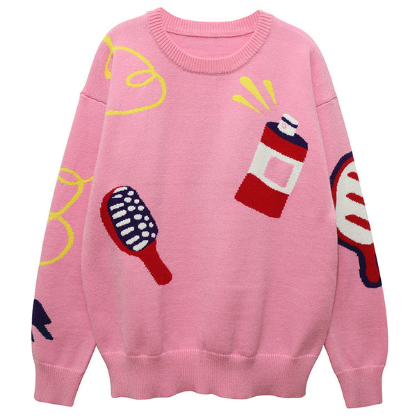 Funky Pink Sweater