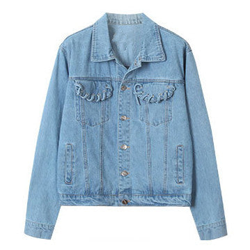 Lace Detail Denim Jacket