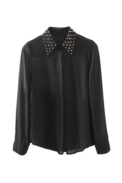 Stud Collar Shirt