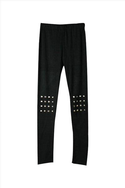 Square Stud Leggings