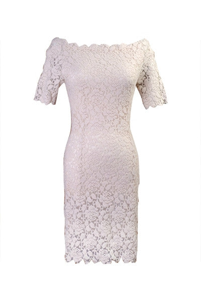 Royal Lace Cocktail Dress