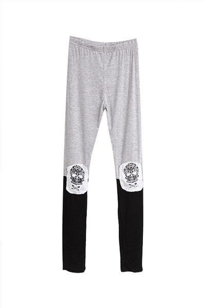 Safety Pin Skull & Crossbones Leggings