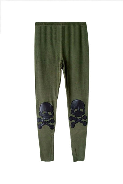Skull & Crossbones Knee Patch Leggings