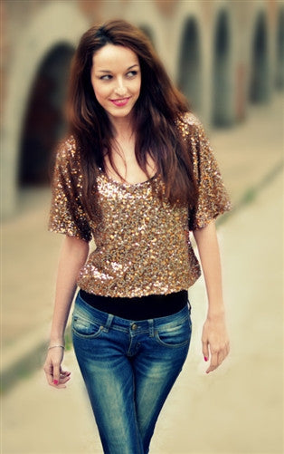 Sequin Top with Paillettes - style by Corazon M.