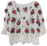 Embroidered rose detailing short bolero