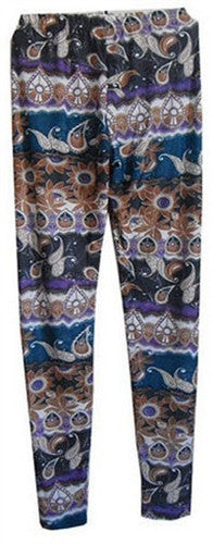 Paisley abstract print leggings