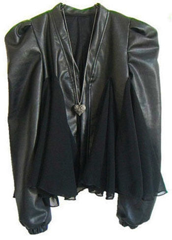 Peaked shoulder biker jacket