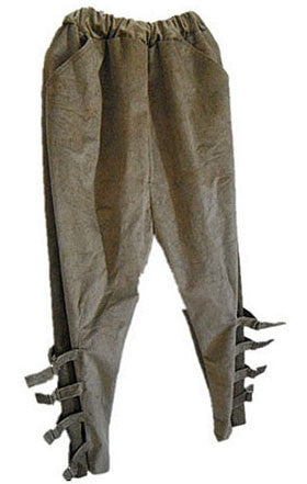 Harem pants with buckle detailing