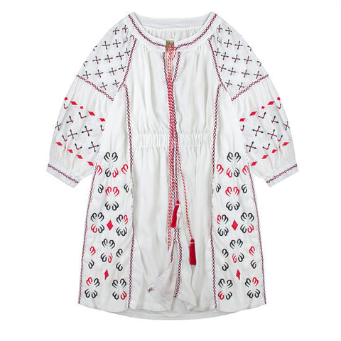 Embroidered Chiffon Tunic